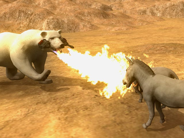 Beast Battle Simulator Gör din Flame-Thrower Polar Bear Dreams Come True