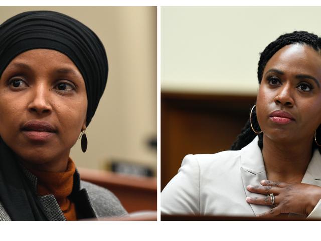 今日の議会の拍手席で:Ayanna PressleyとIlhan Omarは 'Distraction Becky'と唇の欠けた 'Racist Fool'に返答します