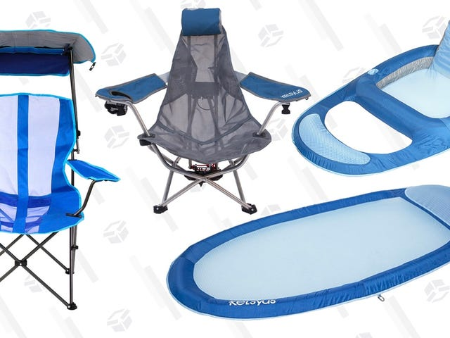 Prepare For The Pool With These Discounted Folding Chairs and Floats