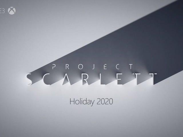 Progetto Scarlett es nueva generación de Xbox, y llega en 2020