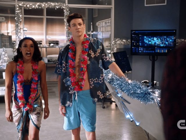 Watch Barry and Iris' Honeymoon Get Interrupted in This Adorable FlashDeleted Scene