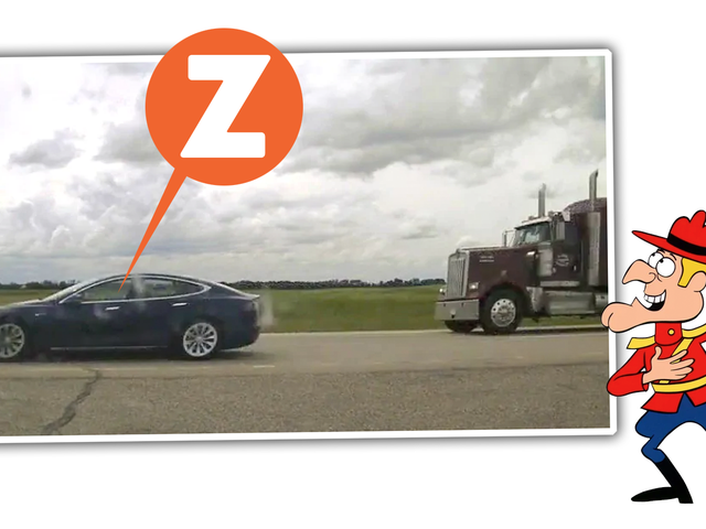 Another Idiot Caught Sleeping At The Wheel Of A Tesla On Autopilot, This One Speeding