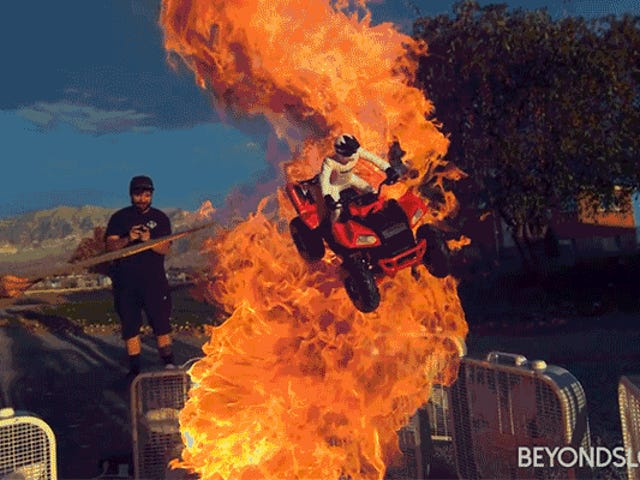Tossing Toys Into a Fire Tornado Looks Epic In Slo-Mo