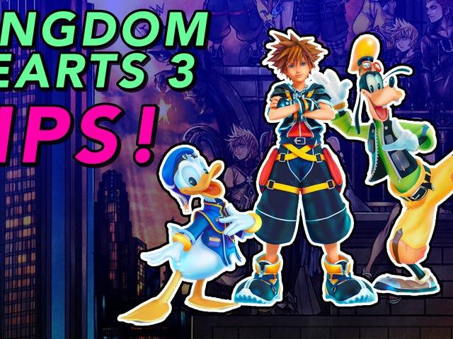Tips för att spela <i>Kingdom Hearts III</i>