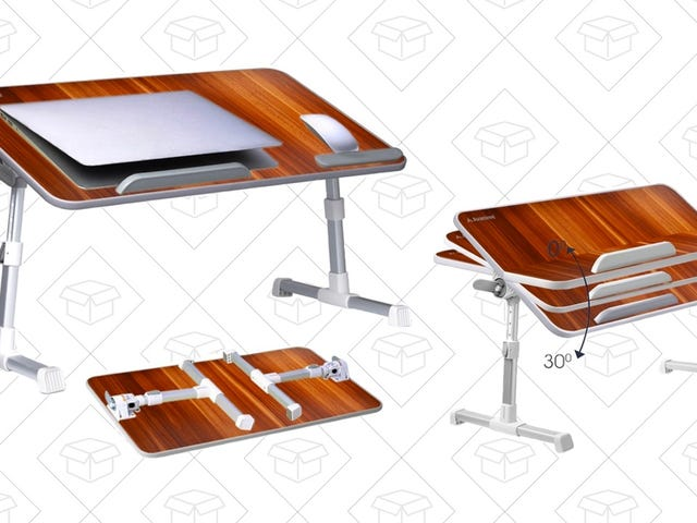Use This $36 Adjustable Tray To Work (or Eat) In Bed