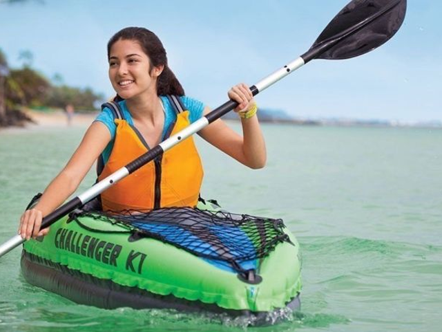 Take To Open Waters With This $54 Inflatable Kayak