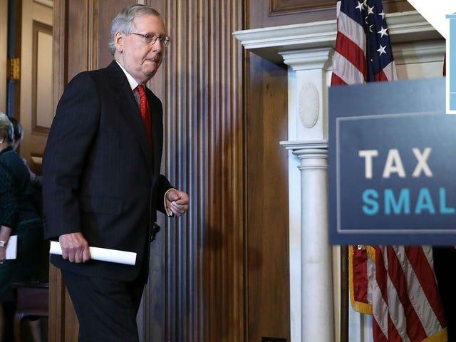 Senaatin republikaanit pääsevät lähemmäksi heidän kauhean verolaskunsa