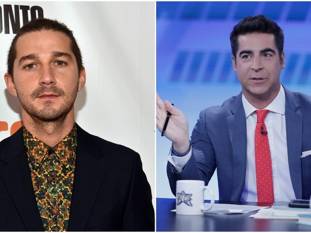 "Fox News dipshit says Shia LaBeouf called him ""trash"" in an airport lounge, which rules"
