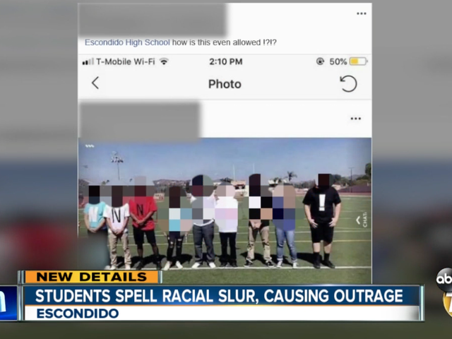High School Idiots Spell Out Racial, Homophobic Slurs During Class Photo Session