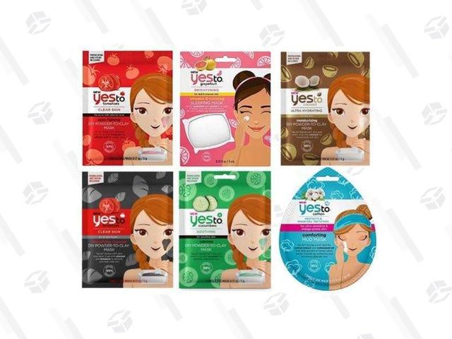 Donnez à votre peau quelques soins avec ce paquet de 9 masques pour le visage Yes to