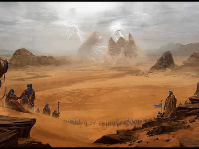 凍った赤い砂漠は暗くなります。 あらゆる部分でここのエネルギー。