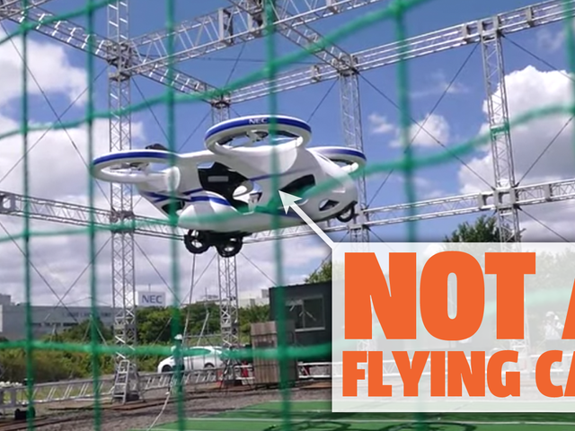 Japanese Electronics Company NEC Demos A Flying Car That's Not Really A Flying Car