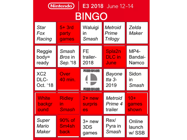 Making My First BINGO Sheet Was A Success! Getting An Actual BINGO Was Not.