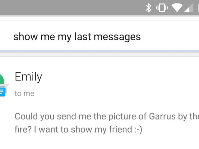 Hear and Reply to Your Last Five Messages With a Google Now Command