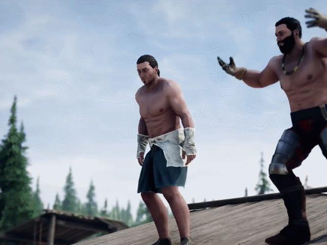 Dua Pemain <i>Mordhau</i> Penentang Tanpa Menggunakan Senjata Atau Memakai Kemeja