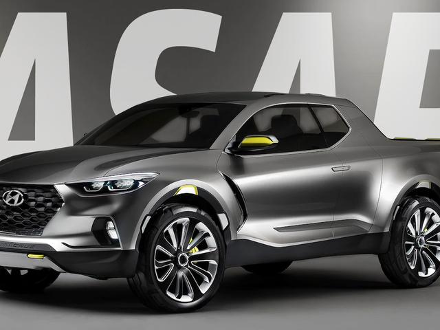 Невеликий пікап Hyundai Santa Cruz чекає на нас з 2015 року.