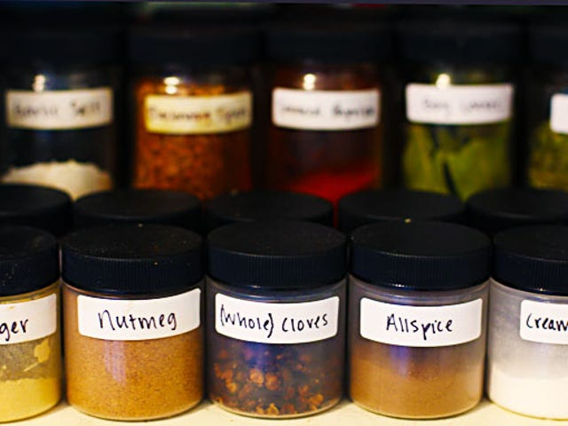 Flush out your spice cabinet and restock it with things you use