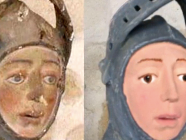 16-й век Испанский святой Георгий получил последнюю любительскую подтяжку лица