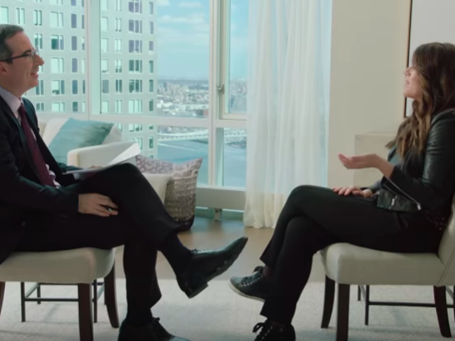 John Oliver talks public shaming with Monica Lewinsky, who has some thoughts