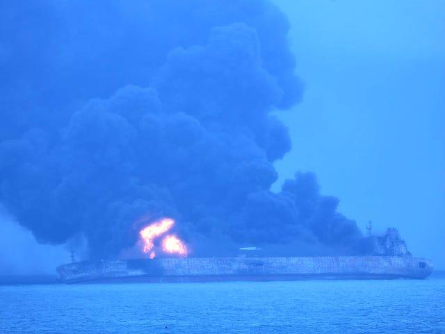 Environmental Disaster Looms as Oil Tanker Burns Off China's Coast