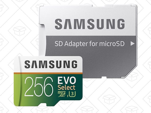 Samsung's Speedy 256GB MicroSD Card Just Got a Huge Price Drop