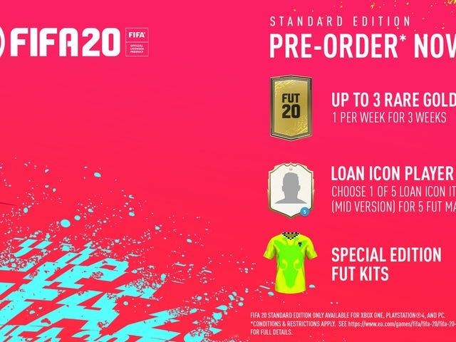 Προετοιμάστε τις γιορτές του στόχου σας: Προκαταβολές FIFA 20 έκπτωσης του Amazon