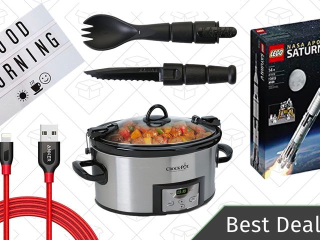 Tuesday's Best Deals: Programmable Crock-Pot, Charging Cables, Tactical Spork, and More