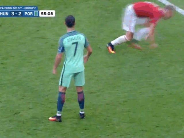 Cristiano Ronaldo, den frækeste Bastard, gør alt han kan for at redde Portugal