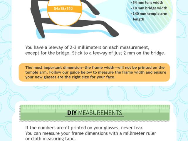 Un guide visuel des lunettes et des mesures de cadres