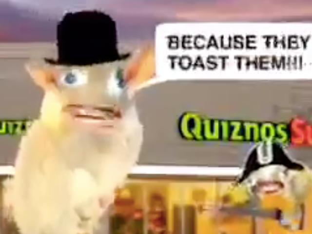 Heute werden wir daran erinnert, dass die singenden Quiznos-Ratten echt waren und kein kollektiver Fiebertraum