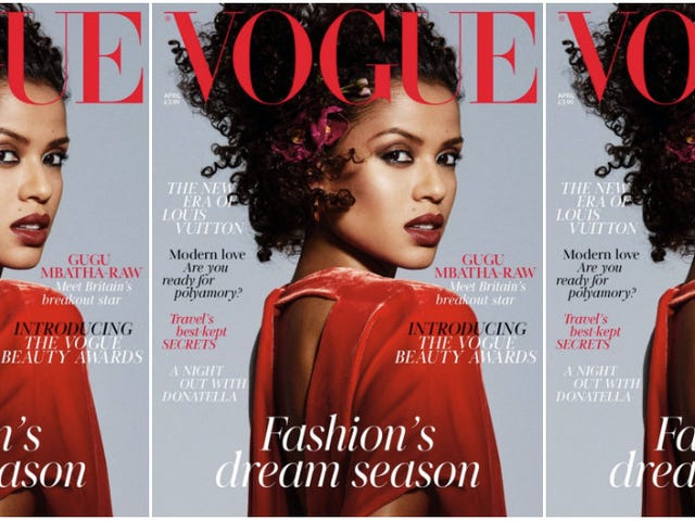 Gugu Mbatha-Raw Gracing This Glorious Cover of British Vogue Is the Red-Velvet Magnificence We Need