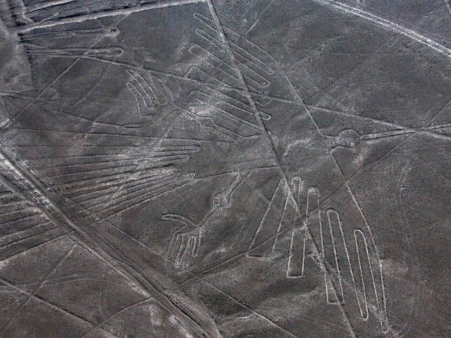 Stupid Truck Driver Drove Right Over the Nazca Lines