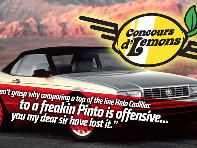 Cadillac Allanté Owners Sure Are Pissed At The Concours d'Lemons