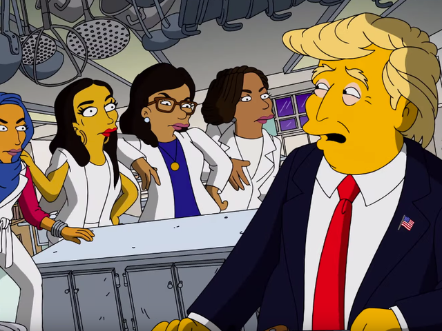 We regret to inform you that the latest Simpsons Trump short is not, in fact, it, chief