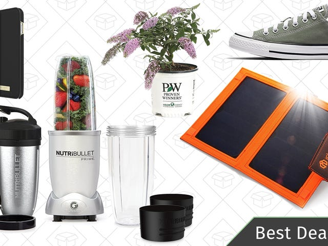 Saturday's Best Deals: Nutribullets, Shrubs, SanDisk Storage, and More