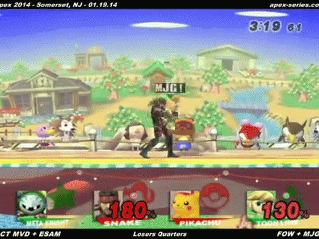Diez veces un jugador derrotó a dos en Professional <i>Smash Bros.</i>