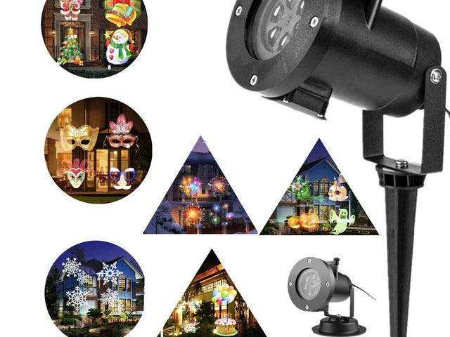 60% OFF PEYING SOURCE Christmas Projector Lights Outdoor 16 Patterns Slide Replaceable Colorful LED $6.4