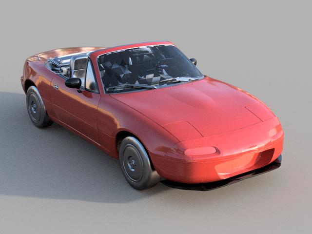 Design del paraurti anteriore per la NA Miata
