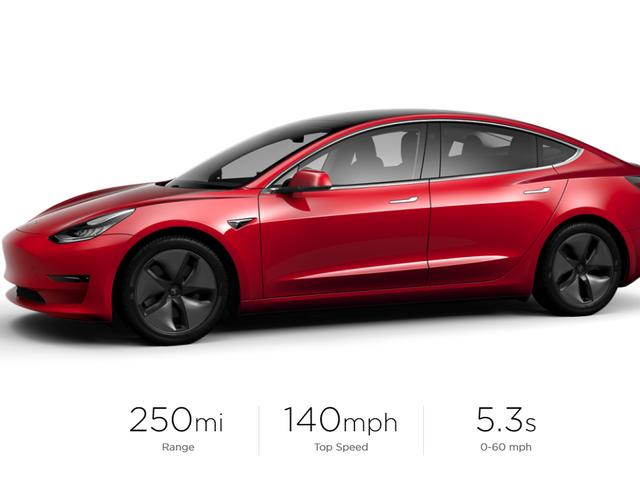 Tesla Model 3 Priser går op med en let rækkevidde