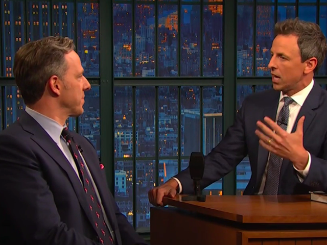 Jake Tapper tells Seth Meyers he's shocked Bill Clinton isn't better prepared, is less shocked about Trump