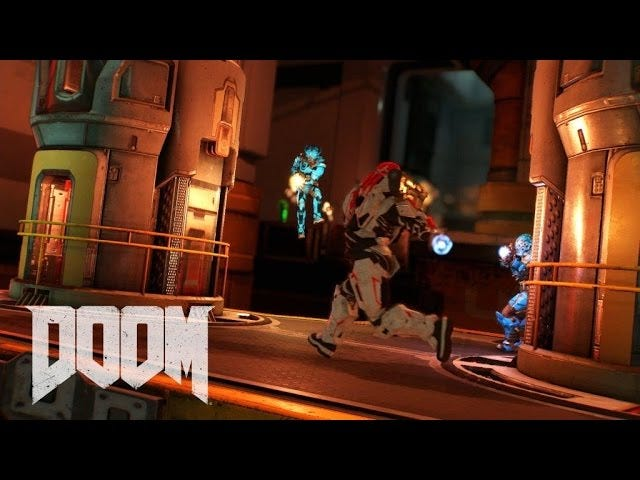 새로운 <i>Doom</i> 의 멀티 플레이어는 <i>Unreal</i> 처럼 보입니다.