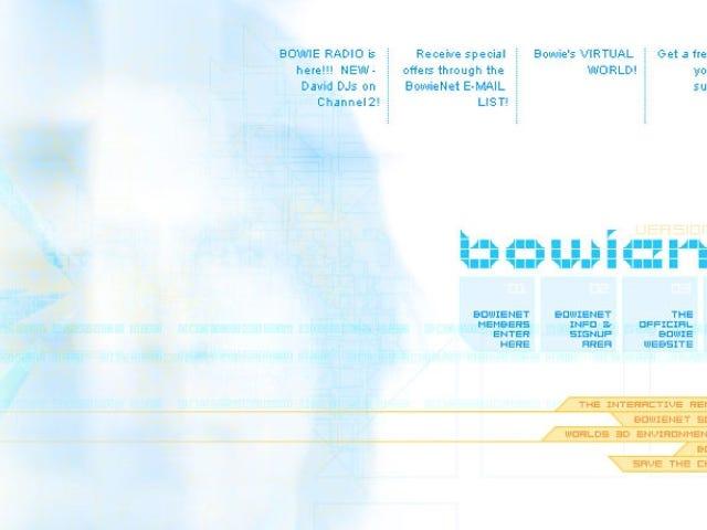 Bowie lanzó su propio proveedor de Internet en los 90, un servicio adelantado a su tiempo