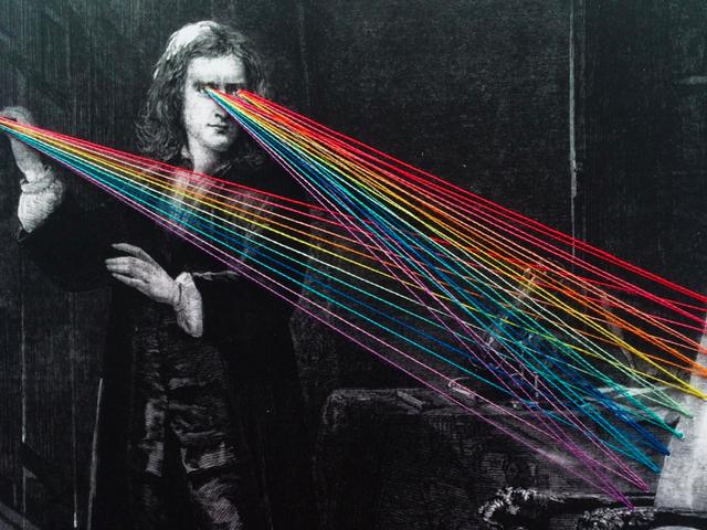 Isaac Newton's Rainbow Gaze, As Imagined By Mana Morimoto