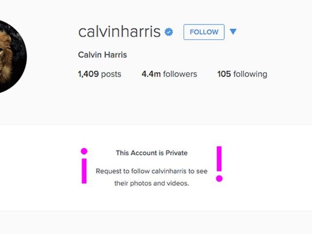 Calvin Harris supuestamente hizo privado su Instagram debido a los molestos fanáticos de Taylor Swift