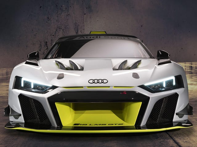 Ауді Новий R8 LMS GT2 Сердиться Про Щось