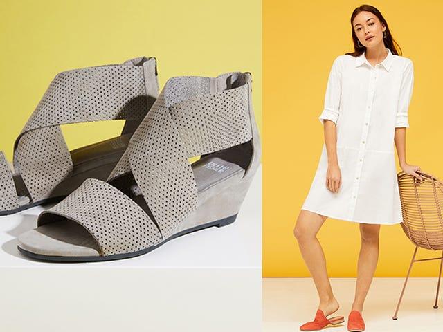 Luokittele vaatekaapisi alennuksella Eileen Fisher -vaatteilla ja kengillä Nordstrom-telineestä