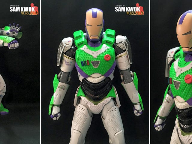 This Custom Iron Man Figure Is What a Real-Life Buzz Lightyear Would Look Like