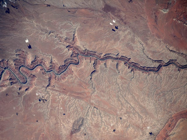 The Colorado River is a Blue Ribbon in the Desert When Seen From the ISS