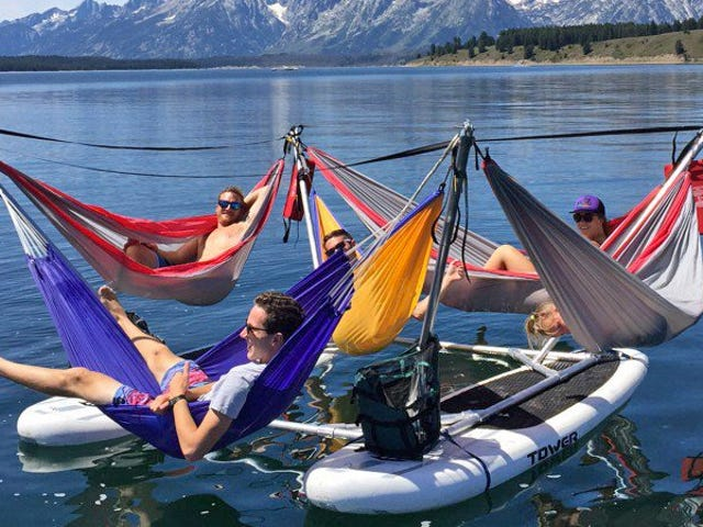 Maximize a Lazy Summer Afternoon With This Absurd Raft Full of Hammocks