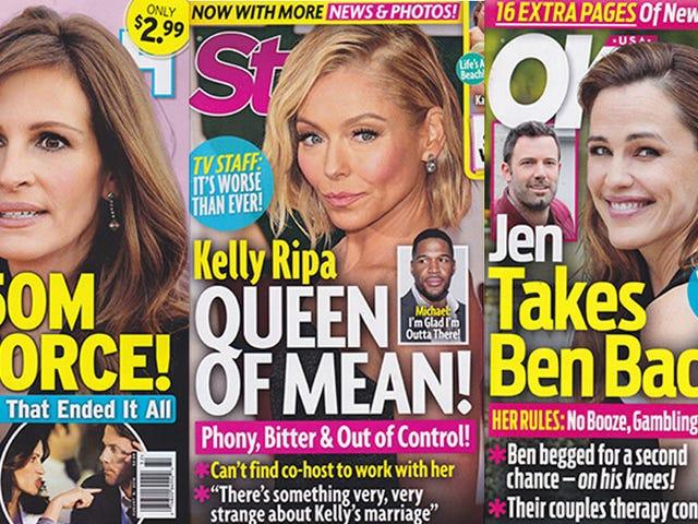 Esta semana en tabloides: Todo el mundo en este planeta de mierda piensa que Kelly Ripa es malo